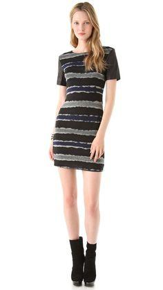 SEASON 6 PREMIERE GOSSIP GIRL: GONE MAYBE GONE: Cut25 by Yigal Azrouel Leather Sleeve Sweater Dress