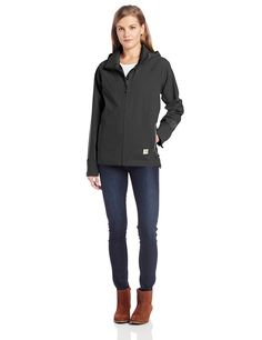 Carhartt Women's Force Equator Zip Front Hooded Waterproof Breathable Jacket -- This is an Amazon Affiliate link. Find out more about the great product at the image link.