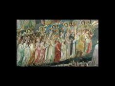 #63. Arena (Scrovegni) Chapel, including Lamentation. Padua, Italy. Unknown architect; Giotto di Bondone (artist). Chapel: c. 1303 CE. Fresco: c. 1305. Brick (architecture) and fresco.