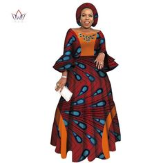 african dress styles 2019 African Dresses for Women Long Sleeve Dresses for Women Party Wedding Casual Date Dashiki African Women African Print Clothing, African Print Dresses, African Print Fashion, African Women Fashion, Latest African Fashion Dresses, African Dresses For Women, African Attire, Shweshwe Dresses, Designer