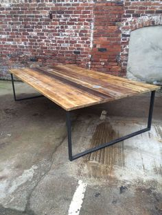Reclaimed Industrial Chic 10-12 Seater Conference Office Table,Steel,Wood,Bar