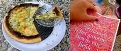 Hartig taartje gemaakt van bladerdeeg, tilapia, ei, spinazie en verse kruiden.  Bovenkant was verbrand dus heb die eraf gesneden en wat parmezaan bovenop gedaan en nog even in de oven. Achteraf veel lekkerder!:P made by ElisaBetty Ploos van Amstel