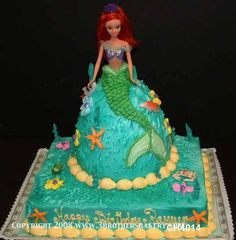 Barbie Cake Little Mermaid 10 by 3 Brothers Bakery, via Flickr
