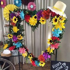 Enfeites para o São João: 30 ideias Mexican Party Decorations, 30th Party, Balloon Flowers, Photo Booth Frame, Construction Party, Its My Bday, Party Time, Party Supplies, Diy And Crafts