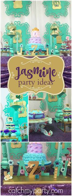 So many gorgeous ideas at this Princess Jasmine party! See more party ideas at CatchMyParty.com!