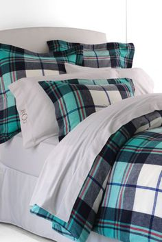 5oz Flannel Plaid Duvet Cover from Lands' End