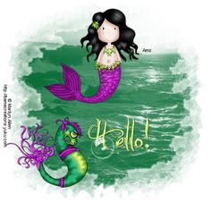 MA Mermaid Ani Bubble Hello