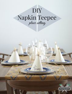 DIY Teepee Napkin Place Setting
