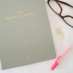 The Project Planner Type Setting, Setting Goals, Time Management Skills, Learning Time, Project Planner, Page Marker, White Pages, Monthly Planner, Grosgrain Ribbon