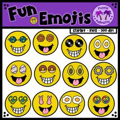 This is a set of fun emojis. There are thirteen different designs. Each design has two smile styles. Product contains a total of 26 colored emojis and 26 black and white emojis. Emojis included: Earth Day (1), Earth Day (2), Vinyl Record, Pancake, Hard Boiled Egg, Dyed Egg, Donut, Cog, Avocado, Bunny Peep, Sunny Side Up Egg, Peace Sign, Pawprint