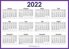 Downloadable Calendars 2022 Printable Yearly Calendar, Monthly Calendar Template, Holiday Calendar, Free Printable Calendar, Monthly Calendars, Create Your Own Calendar, Holiday Words, Calendar Design, Printables