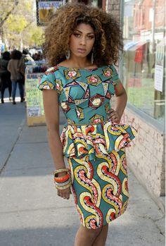 www.cewax.fr aime ce créateur afro tendance, style ethnique, tissus africains. Dans le même style, visitez la boutique de CéWax : http://cewax.alittlemarket.com/ #wax, #ankara, #kente, #kitenge, #bogolan, #Africanfashion, #ethnotendance, #AfricanPrints - Tiffany Nicole Dress - Kaela Kay