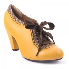 Irregular Choice Yellow vintage inspired shoes