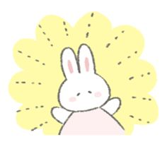The fluffy bunny sticker 6 – LINE stickers Homemade Stickers, Fluffy Bunny, Wallpaper Stickers, Cute Messages, Cute Games, Phone Themes, Hippie Art, Chibi, Cute Doodles