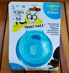 Shelter dogs can get anxious. A treat ball can help the dog focus on the treats, moving the ball so each treat (or piece of kibble) falls out one by one. Interactive toys like this treat ball are available at deeply discounted prices at #TuesdayMorning; priced at just $5.99 (compare at $15.99), this makes a great shelter donation!