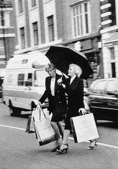 Princess Diana shopping with her Mother Frances Shand - Kydd. Diana had a very tenuous relationship with her Mother.