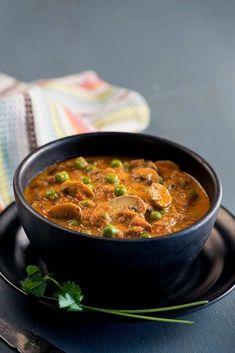 Matar Mushroom Curry Recipe | Everyday Indian Food