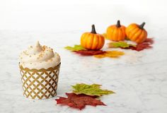 Gourmet baking kit for Pumpkin Cupcakes. Each kit includes all the pre-measured ingredients and a detailed recipe card to bake an impressive homemade dessert.
