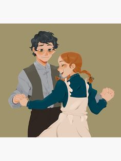 """Anne with an E - Shirbert Dance"" Sticker by EmaGameboi Gilbert Blythe, Gilbert And Anne, Anne White, Famous Novels, Anne Shirley, Dibujos Cute, Thriller Books, Couple Drawings, Fanart"