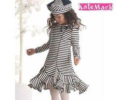 maritimes Mädchen Kleid Kate Mack dress dunkelblau gestreift NEU | eBay