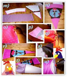 Fabric Schultüte. mit schnittmuster erstellen für rohling