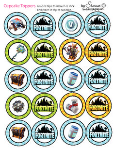 Cupcake Toppers Fortnite Cupcake Wrappers