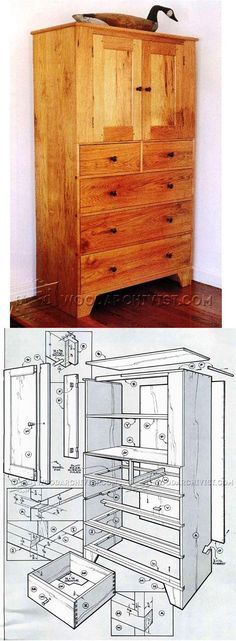 Shaker High Chest Plans - Furniture Plans and Projects | WoodArchivist.com