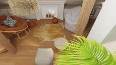PODDASZE BOHO Interior Rendering, Interior Design, Plant Leaves, Boho, Plants, Nest Design, Home Interior Design, Interior Designing, Bohemian