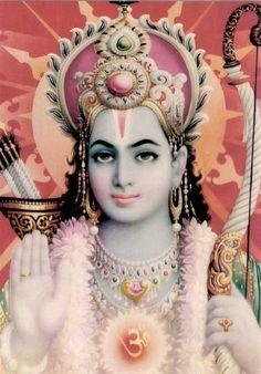 """Parvati recites Ram nama along with Shiva, knowing that Ram nama is equal to one thousand names of the Lord. Once Lord Shiva narrated to Parvati the Glory of Ram nama"" ~Mahavatar Babaji, ""The Voice of Babaji"" Indian Gods, Indian Art, Bollywood Stars, Arte Krishna, Krishna Radha, Shri Ram Photo, Rama Lord, Avatar, Lord Rama Images"
