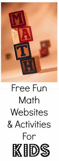 Large List of FREE Math Activity Websites for KIDS compiled by teachers and math specialists! Math Teacher, Math Classroom, Kindergarten Math, Teaching Math, Teacher Tips, Math Resources, Math Activities, Math Websites, Math Pages