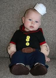 Popeye the baby sailor #kids #halloween #costume //.  sc 1 st  Pinterest & clever costume! | Family Photo Ideas | Pinterest | The old ...