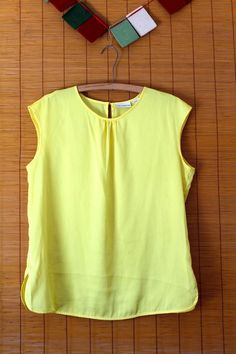 EUC Liz Claiborne Womens Oversized Size Large Yellow Gathered Blouse Top Shirt #LizClaiborne #Blouse #Yellow # Spring #Summer #RVATreasures