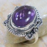 Wish | Amethyst 925 Sterling Silver Ring Size 6 (Size: 6, Color: Purple)