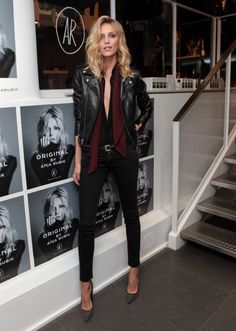 Der Look von Anja Rubik -, Look Rock Chic, Rock Style, Glam Rock, Anja Rubik, Estilo Fashion, Look Fashion, Girl Fashion, Womens Fashion, Lolita Fashion