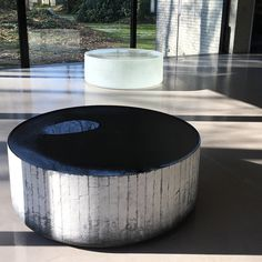 Black and white glass sculpture by Roni Horn