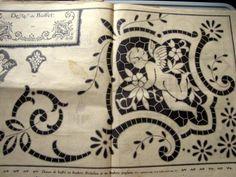 Lene Richelieu e Bainha Aberta: richelieu antigo 3 Cutwork Embroidery, Embroidery Needles, Embroidery Patterns, Cut Work, Victorian Art, Line Art, Decoupage, Decorative Boxes, Projects To Try