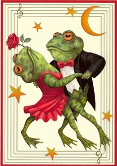 moon dancing...my Mother used to sing a song...Froggy went a courtin' & he did ride, uh huh(repeat 2 times), Froggy went a courtin' & he did ride, sword & pistol by his side, uh huh, uh huh, u huh, (there's several verses to the song, this reminded me of it!( Brought back wonderful memories of her singing it to us!