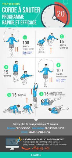 Programme de corde à sauter complet pour tout le corps