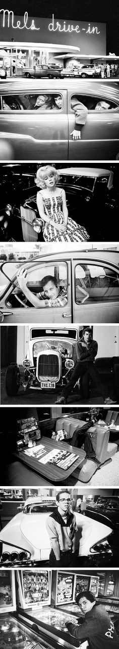 American Graffiti (George Lucas, 1973) - photographed by Dennis Stock, 1972.