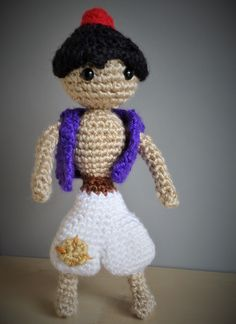 Aladdin Desert Prince Amigurumi & his magic carpet! Pattern by Sahrit