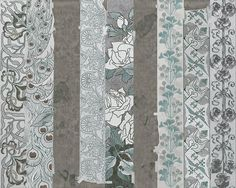 Wallpaper with floral pattern PEACOCK by Wall