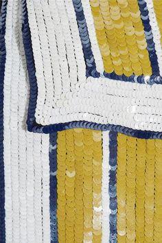 Monse - Sequined Silk-chiffon Wrap Skirt - Saffron - US4