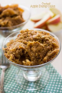 Crockpot Apple Dump Cake - so easy to make using a slow cooker!