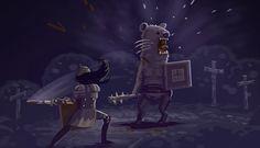 Sword and Sworcery Fight by *Vihola on deviantART