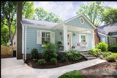 New Exterior Paint Colora Craftsman Landscaping Ideas Bungalow Renovation, Bungalow Exterior, Craftsman Exterior, Bungalow Homes, Cottage Exterior, Exterior House Colors, Cottage Homes, Exterior Design, Mobile Home Exteriors