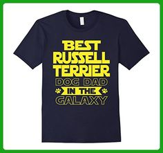 Mens Best Russell Terrier Dad in the Galaxy T-Shirt 2XL Navy - Relatives and family shirts (*Amazon Partner-Link)