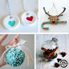 So many fun homemade ornaments to make this holiday season.