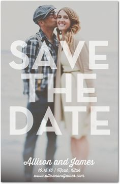 Clearly in Love - Signature White Photo Save the Date Cards - Magnolia Press - White : Front