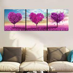 Diy 5D Diamond Heart Love Tree Sticker Cross Stitch Painting Home Wall Decor
