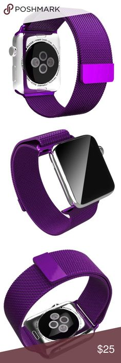 38mm Purple Magnetic Apple Watch Band Brand New 42mm Purple Stainless Steel Milanese Apple Watch Band with Magnetic Closure  (Watch is not included) Great Gift for your friends and Love ones !!! Accessories Watches